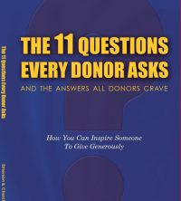 11 Questions Every Donor Asks book cover - 1st edition